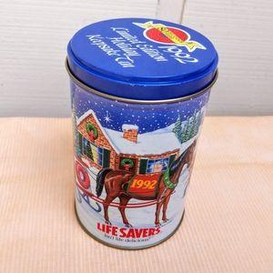 Vintage 1992 Lifesavers Christmas tin for storage